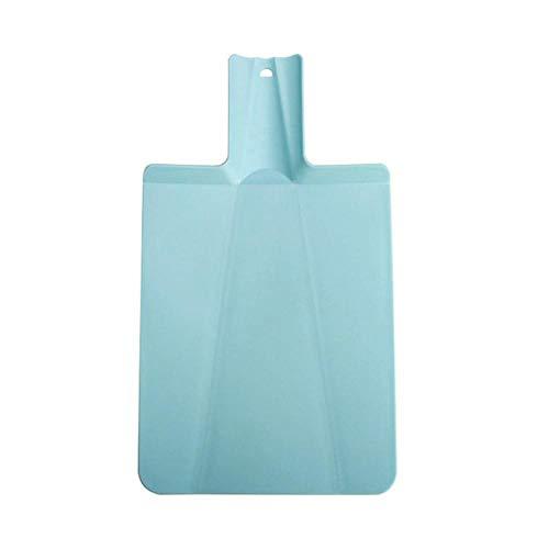 Llxxx Schneidebrett-2 Stück 38,2 * 21,5 cm PP Lebensmittel Gemüse Fleisch Brotschneider Board Grade Cut Küchenblöcke Faltbare Umweltfreundliche, blau