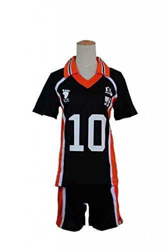 Sunkee Haikyuu!!Karasuno High School Volleyball Club Hinata Shouyou Cosplay (Bitte mailen Sie uns Ihr Gewicht und Höhe) (L: 160-165cm, 10) (Haikyuu Cosplay Kostüm)