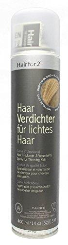Hairfor2 Haarverdichtungsspray mittelblond, 1er Pack (1 x 400 g)