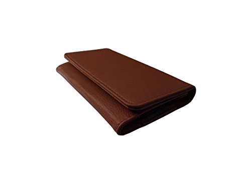 ATV PU Leather BURGUNDY Pouch Case Flip Cover For HTC Desire 500