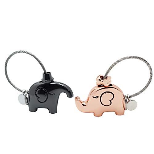 STOBOK bolso llavero besos elefantes parejas llavero regalo de San Valentín fantástico...