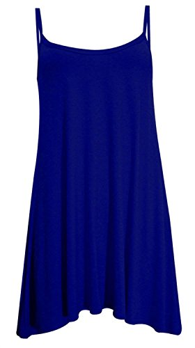 Damen plus Größe Einstecktuch Cami Swing Sleeve Weniger Weste Kleid 8-22 Navy