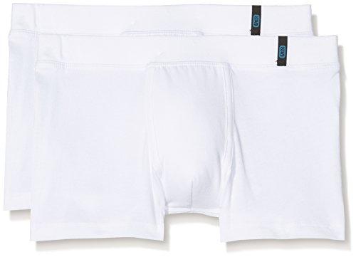 Schiesser Jungen Boxershorts 95/5 Multi-Pack 2Pack Shorts, 2, Weiß (Weiss 100), 164 (Herstellergröße: M) (Weiße 2er-pack Boxershorts)