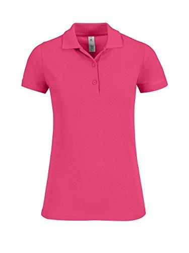 B & C Safran zeitloses Damen Polo Shirt Fuchsia