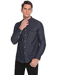 Coofandy Jeanshemd Herren Denim Shirt Langarmhemd Cowboy-Style Freizeit Hemd männer Kent-Kragen