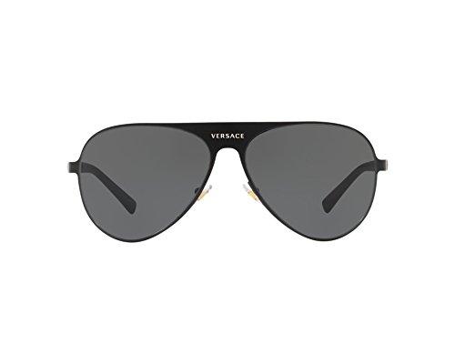 Versace Unisex-Erwachsene 0VE2189 142587 59 Sonnenbrille, Schwarz (Matte Black/Grey),