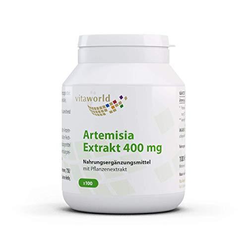Vita World Artemisia annua Extrakt 30:1 400mg 100 Vegi Kapseln Apotheken Herstellung -