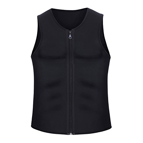 Chumian Men's Slimming Neoprene Vest Hot Sweat Shirt Body Shaper for Weight Loss