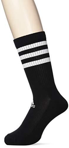 adidas 3 Paar 3-Streifen Cushion Crew Socken, Black, XXL -