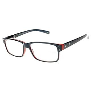 Atlantic Eyewear AE0049 Lesebrillen Marine-Blau und Rot für Männer und Frauen mit Etui (+2,50)