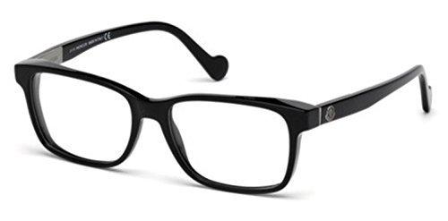 Moncler Unisex-Erwachsene Brillengestelle ML5012 001 57, Schwarz (Nero LUCIDO)