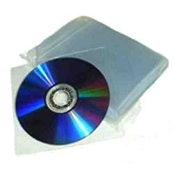 Express Net 100 Plastic Cd Wallets-clear Cd Dvd Sleeves - High Quality