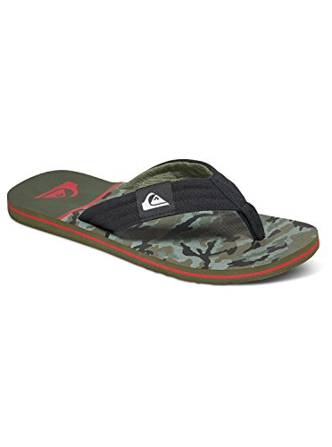 Quiksilver Molokai Layback M Sndl Xkrb, Tongs homme Noir - Black/Red/Green