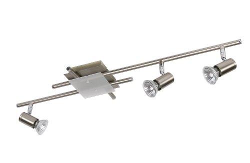 Lucide 12914/23/67 Quadro Spot 3 x GU10 50 W Chrome Mat / Verre