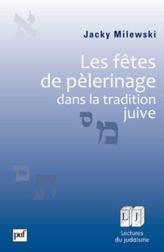 Les fêtes de pèlerinage dans la tradition juive par Jacky Milewski