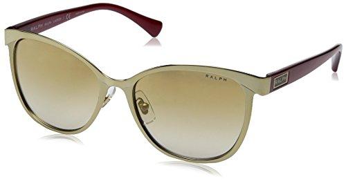 Ralph 0ra4118 31996e, occhiali da sole donna, rosso (gold/red/goldmirror), 54
