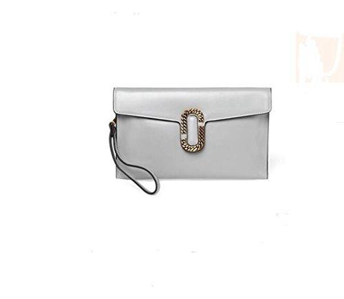 La signora frizione della busta, sacchetto di frizione ad alta capacità, spalla personalità della moda, Messenger Bag gray