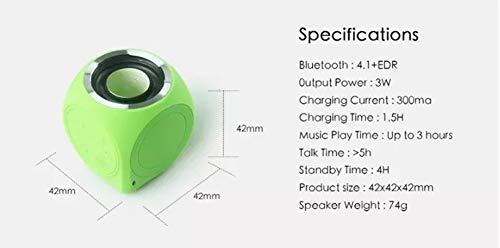 HS-TWYBYX Subwoofer Portable Bluetooth Musique Haut-Parleur Stéréo sans Fil BT Haut-Parleur Étanche Voyage Son (Couleur Aléatoire) 5