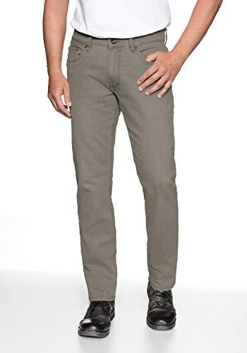 HERO by John Medoox Regular Straight Stretch 86% Baumwolle, 2% Elastan, 12% Polyester, dark khaki, W33/ L34 Baumwolle Elastan Polyester