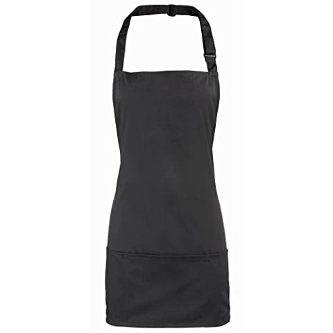 Premier Colours 2-in-1 Apron / Workwear (One Size) (Black)