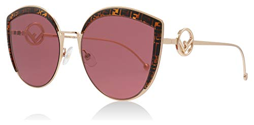 Fendi FF0290/S DDB Gold / Copper FF0290/S Cats Eyes Sunglasses Lens Category 2 Size 58mm