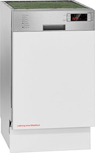 Bomann gspe 883Lave-vaisselle encastrable/Lignac teilintegrierte modèle 45cm/A + +/225kWh/an/11/2380L/AN/Façade en acier inoxydable avec écran LED