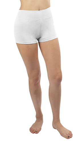 iLoveSIA® Femme short sans couture confortable shorty multiusage Blanc