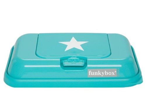 Funkybox Box zu Reinigungstuch Nomade Funky to go mit Etoile türkis