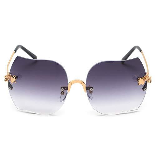 YLYZJH Frauen sexy cat Eye Sonnenbrille Mode Metall Dekoration cateye Sonnenbrille großen Rahmen Shades Brillen männer Frauen uv400