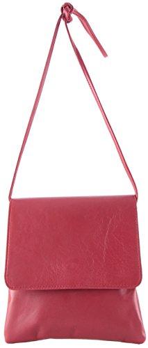 histoireDaccessoires - Pochette Pelle Donna - PO156034-L-Adelaide Rosso rubino