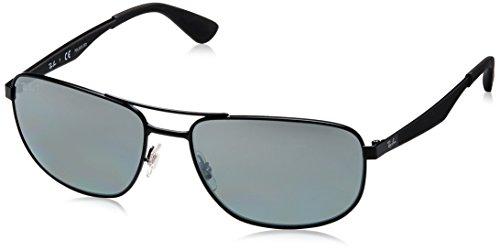 Ray-Ban Unisex Sonnenbrille RB3528, (Gestell: schwarz Glas: polarisiert Silber verspiegelt 006/82), X-Large (Herstellergröße: 61)