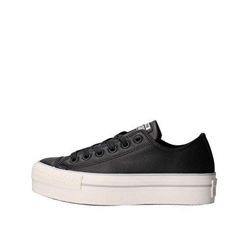 CONVERSE 559016C schwarze Frauen schwarze flache Schuhe Turnschuhe Spitzen-up-Plattform 40 (Converse-plattform)