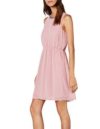 VERO MODA Damen VMDENICE S/L Dress D2-2 Kleid, Rosa Zephyr, 38 (Herstellergröße: M)