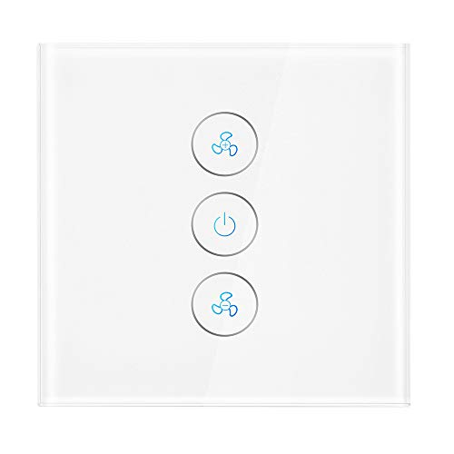A0ZBZ Interruptor de luz de ventilador de techo inteligente Interruptor inalámbrico de...