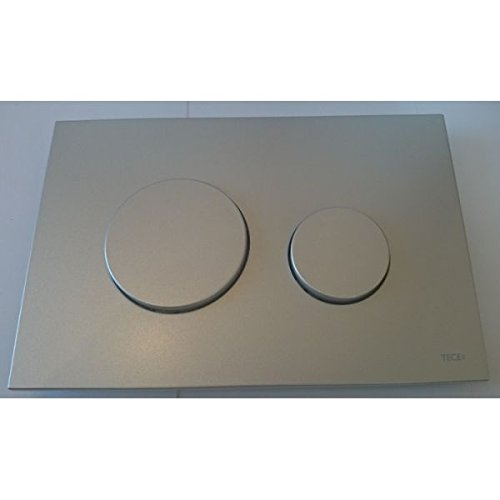 Preisvergleich Produktbild Tece Teceloop-Abdeckplatte mit Betätigung 2-Mengen-Spülung, mattchrom, 9240625