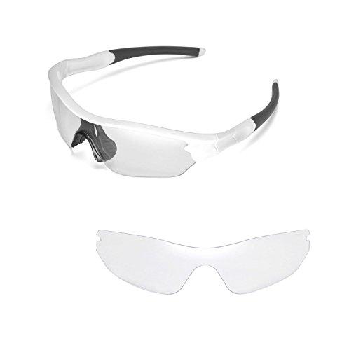 Walleva Ersatzgläser für Oakley Radar Edge Sonnenbrille- Mehrfache Optionen (Klar)