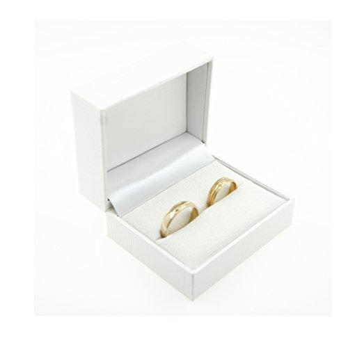 Trauringetui Eheringe Box Hochwertige Ring-Schachtel Ringbox für Hochzeit Valentinstag Verlobungsring Weiß Box 4