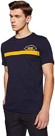 Amazon Brand - House & Shields Men's Printed Regular Fit Half Sleeve Cotton