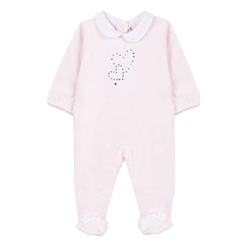 Absorba Boutique Baby - Mädchen Pyjamas Rose Schlafstrampler, Pink (Rose 30), 3-6 Monate (Herstellergröße: 3M)