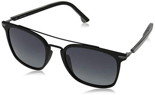 Police Herren DROP 3 Sonnenbrille, Schwarz (Shiny Black/Grey), 54.0