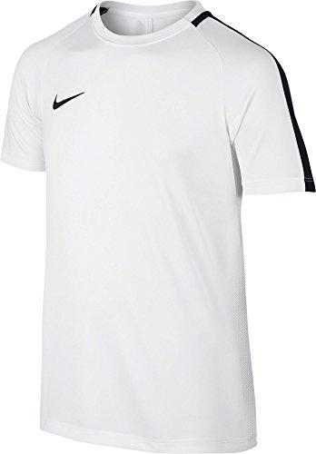 Nike Kinder Dri-Fit Academy Kurzarm-Fußballoberteil, White/Black, L