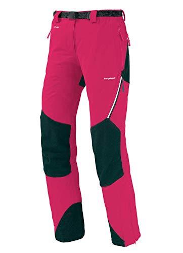 Trangoworld pc007743 – 6zt-m Pantalon Long, Femme, Fuchsia/Gris (Ombre Foncé), M