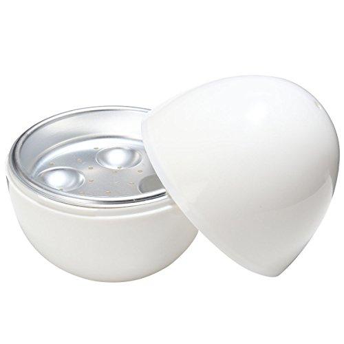 OUNONA Runde Form Mikrowelle Eierkocher Eierkocher Eier Boiler Dampfer Ei Platte Fach für Zuhause mit 4 Ei Kapazität
