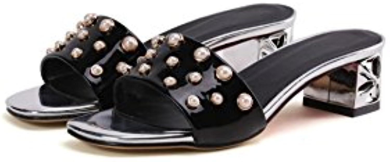 QIN&X Wouomo Sandals Block Heels Flip Flop | Di Di Di Qualità Fine  e22d7c