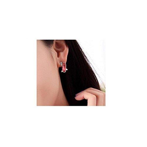 Erica Boucles d'oreilles plaqué or mousseux cristal autrichien cadeau parfait pour les femmes #2