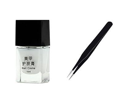 LIFECART Peel Off Liquid Nail Tape Peel Off Base Coat Nail Art French Manicure + Nail Art Tool Tweezer