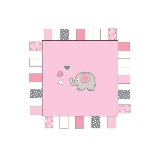 SLUMBERTAG-Baby-Comforter-Security-Blanket-Pink-Elephant