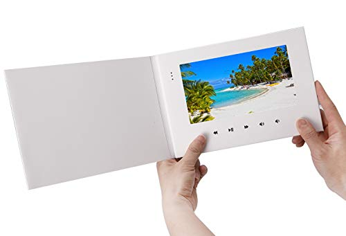 LuguLake Video Brochure, 7 Inch Werbemaschine für die Vermarktung von Markenwerbung mit digitaler LCD-Fotorahmen-Grußkarte E-Card für Geburtstag, Jubiläum, Urlaub, Weihnachten, Christmas