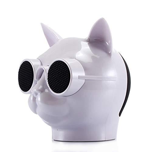 AkoMatial - Altoparlante stereo senza fili Bluetooth a forma di testa di gatto, per feste Infradito colorati estivi, con finte perline