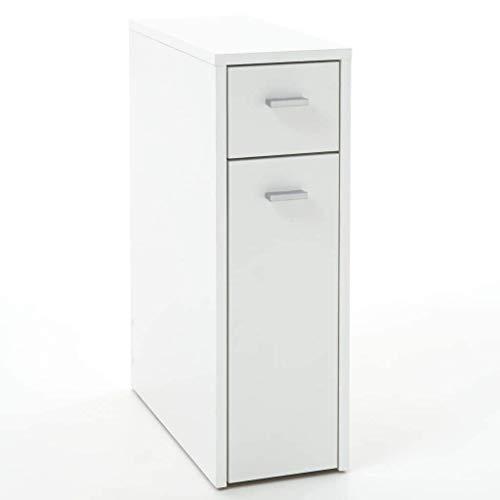 13Casa – Nora A5 – Mobile multiuso. Dim: 20x45x61 h cm. Col: Bianco. Mat: Truciolare, Melamina. - 3